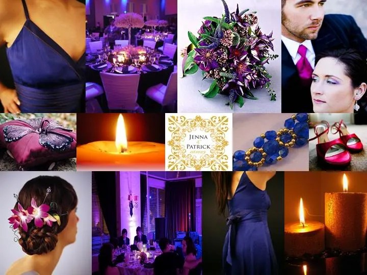 Blue and Purple Wedding Decorating Ideas