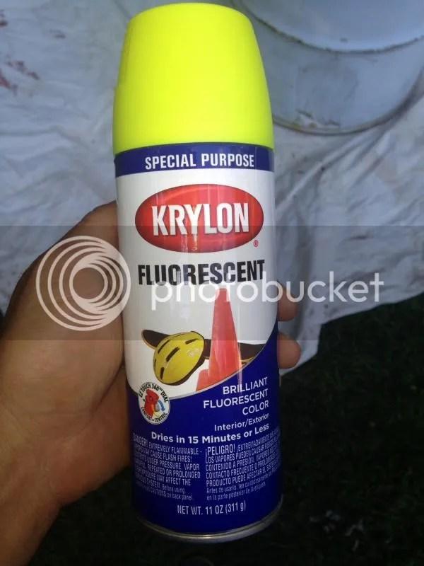 Yellow Fog Light Spray Paint