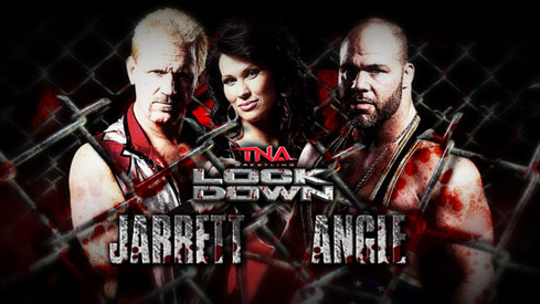 Kurt Angle/Jeff Jarrett Lockdown
