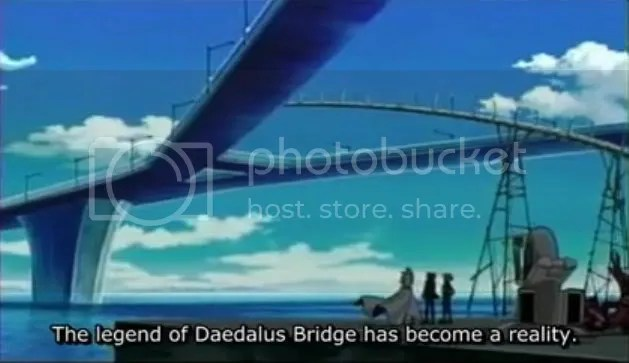 The completed Daedalus Bridge...