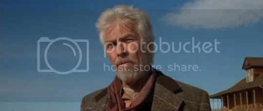 Showing how it should be done - James Coburn as Chisum in Young Guns II