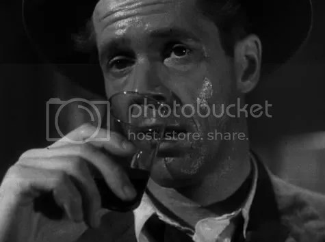 Falling off the wagon - Dan Duryea in Black Angel