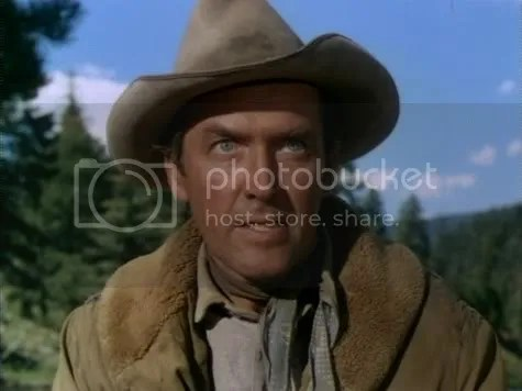 The eyes have it - James Stewart in The Naked Spur.