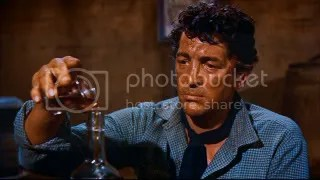 Didn't spill a drop. Dude (Dean Martin) fights off the temptation.