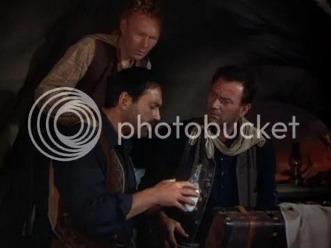 Three wise men? - Harry Carey Jr, Pedro Armendariz & John Wayne in 3 Godfathers