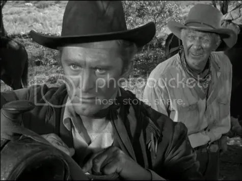 Rattling the skeletons - Kirk Douglas & Walter Brennan in Along the Great Divide.