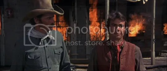 Nearing the end of friendship - Garrett (Glenn Corbett) & the Kid (Geoffrey Deuel)
