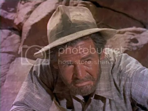 Robert Ryan near the end of his tether in Inferno.