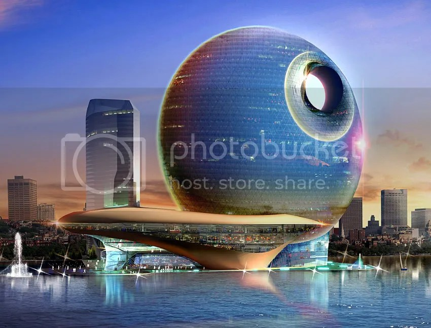 1357FullMoonRising_pic1.jpg Death Star Hotel in Azerbaijan picture by SLEETAPAWANG