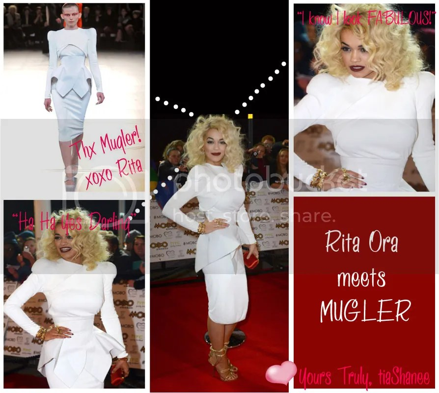 Rita Ora Meets Mugler