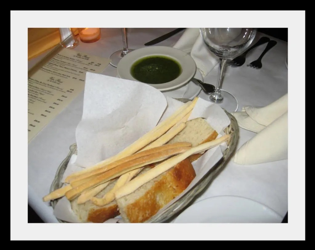 Fiamma's Breadsticks and Pesto