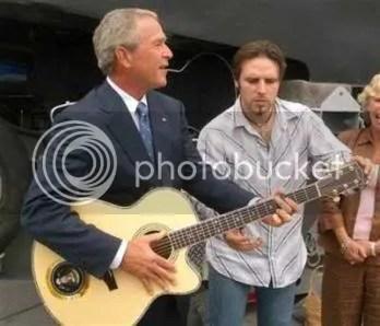 bush guitar Katrina