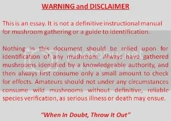 mushroom disclaimer