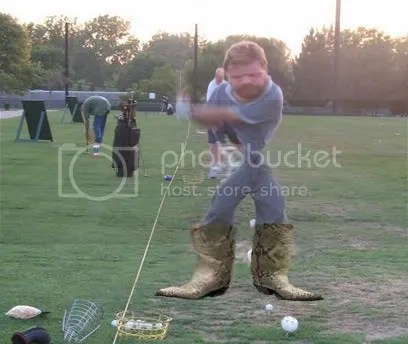 skinny waist golfer