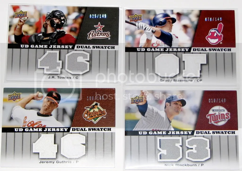 2009 Upper Deck Series 1 dual-swatch relic cards