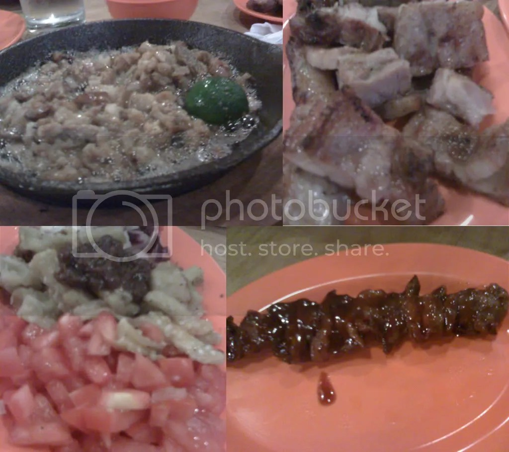Bonnies Food: Sizzling Sisig, Grilled Liempo, Ensalada, Barbecue