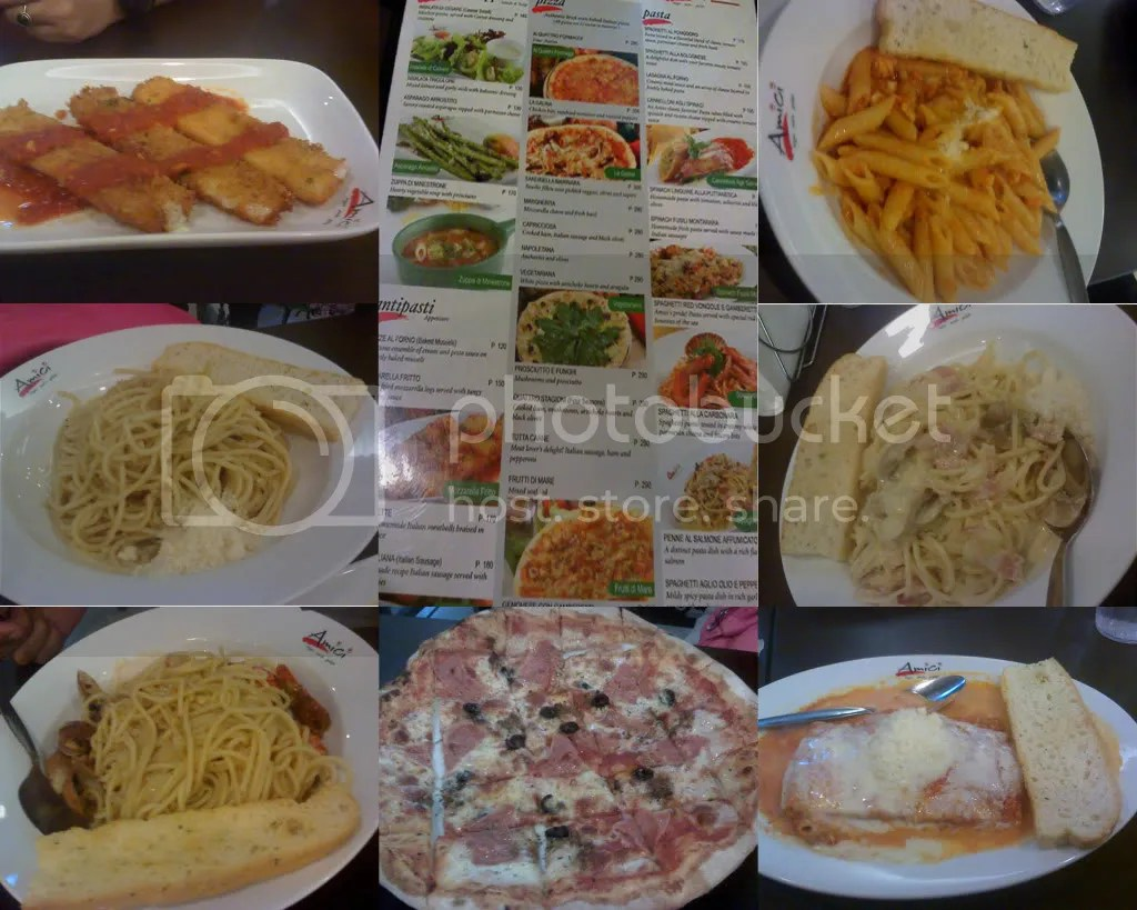 Amici Menu and Dishes