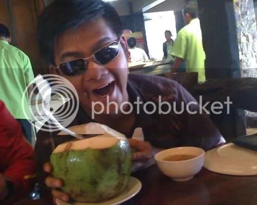 Wazer poses with his Buko Juice