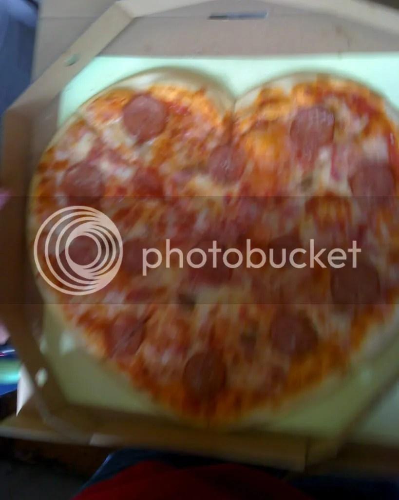 Abbondanzas Heart-Shaped Pizza