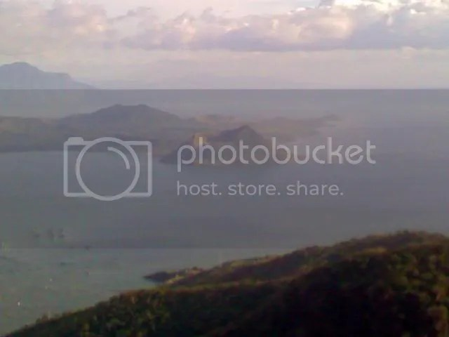 Taal Volcano View from Leslies Restaurant