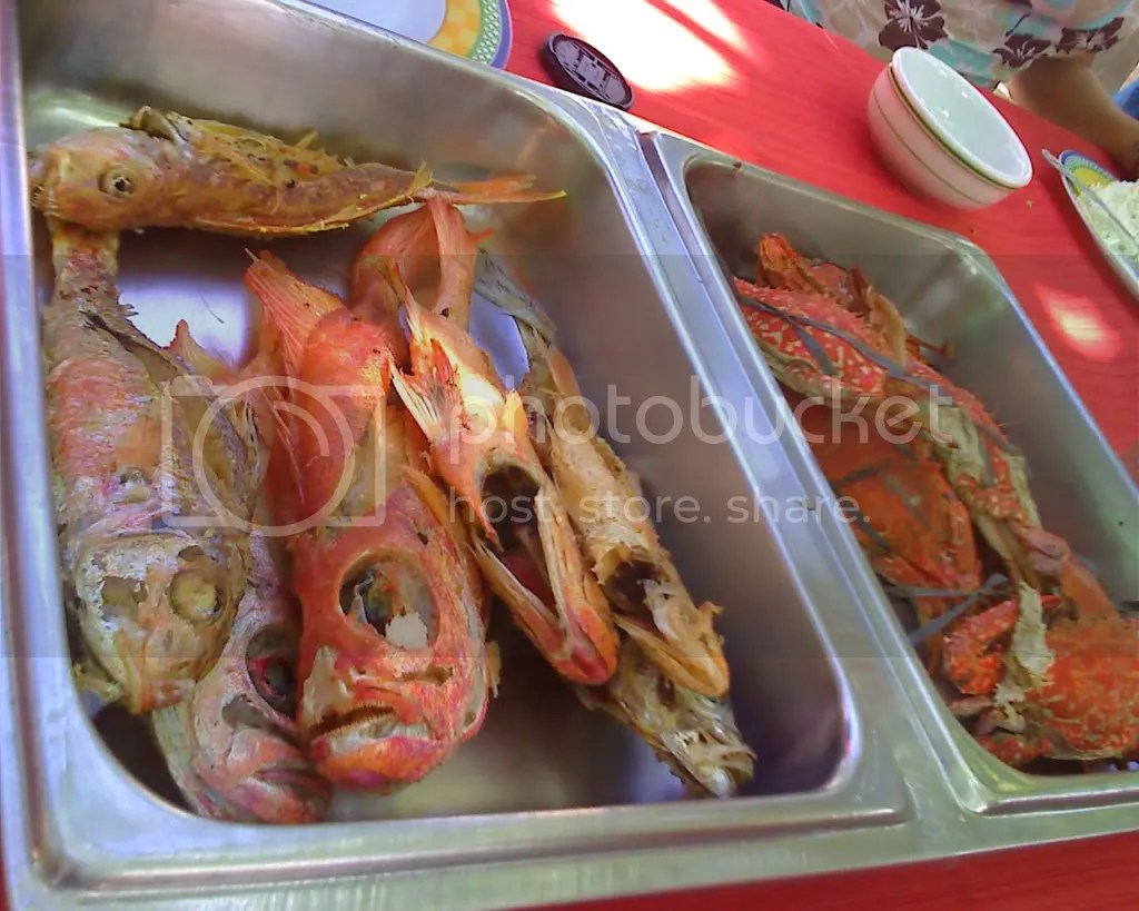 Our Seafood Lunch: Fish and Crabs