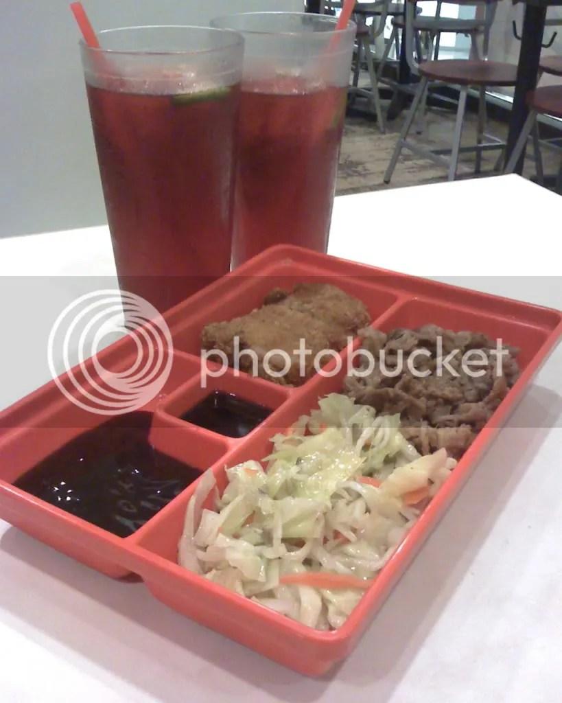 Pork Tonkatsu and Beef Teriyaki Sumo Meal