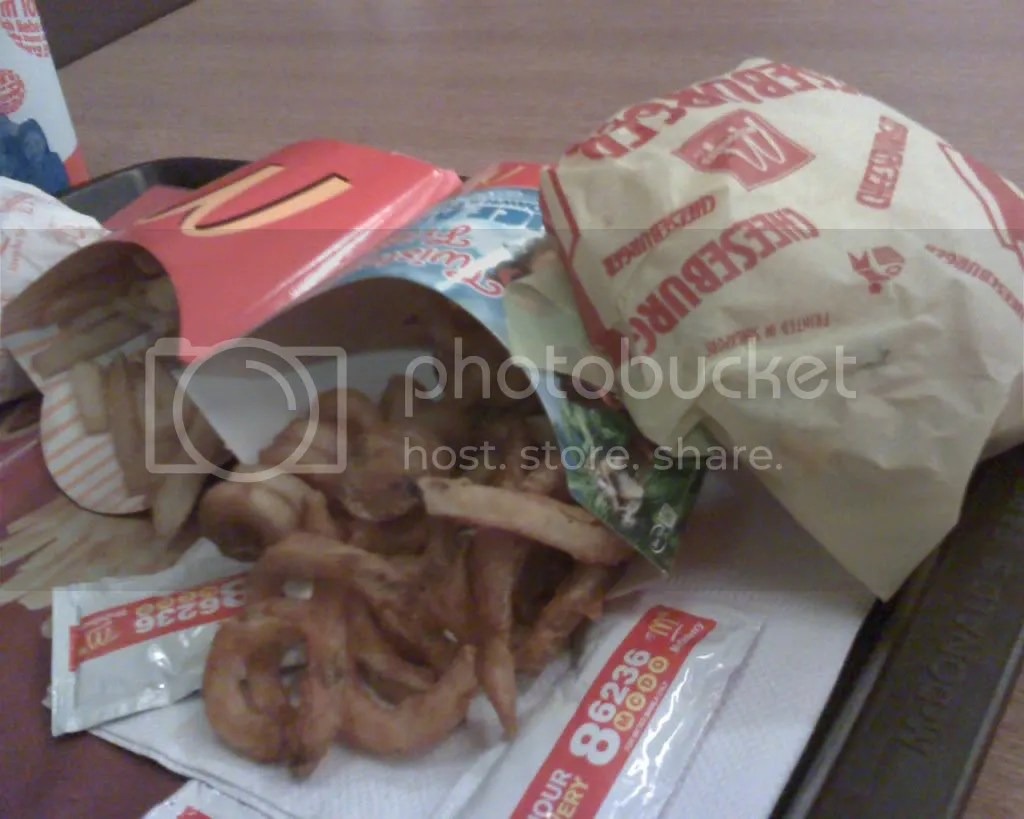 McDonalds Twister Fries and Cheeseburger Value Meal
