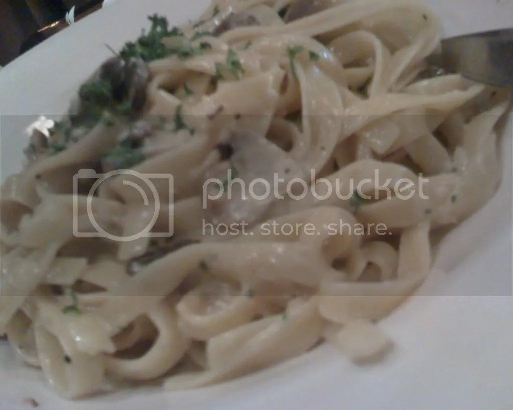 Fettuccine With Garlic Cream Sauce