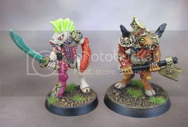 Oldhammer Warhammer Realm of Chaos Slaves to Darkness Beastman Champions of Slaanesh and Khorne.