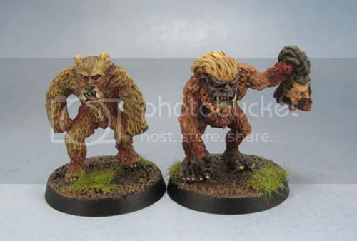 Citadel Oldhammer C18 Night Horror Ape Man, C18 Night Horror Werebear, Night Horrors