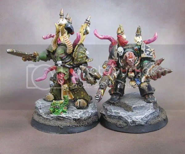 Nurgle Plague Marine Terminator Lords