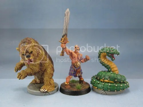 D&D Wrath of Ashardalon Cave Bear, Giant Snake