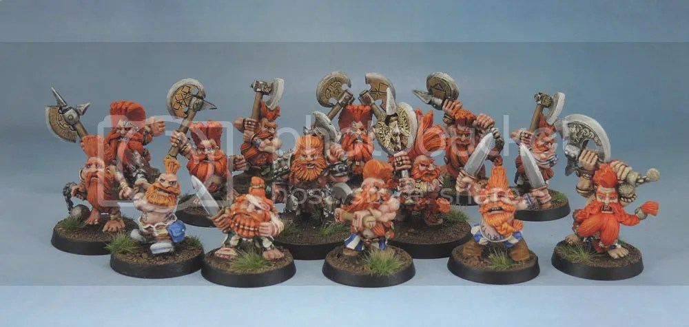 Citadel Dwarf Slayers, Troll Slayer, Giant Slayer, Dragon Slayer, Daemon Slayer, Warhammer Quest Slayer, Stonehaven Dwarf Berserker, Marauder Miniatures Slayers