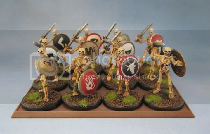 Wargames Foundry Greek Mythology Skeletons, Reaper Bones Skeleton Sowordsmen