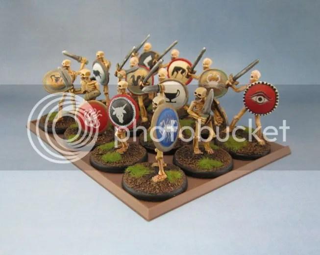 Wargames Foundry Greek Mythology Skeletons, Reaper Bones Skeleton Sowordsmen
