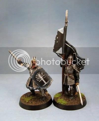 Citadel Miniatures Warriors of Minas Tirith Captain and Standard