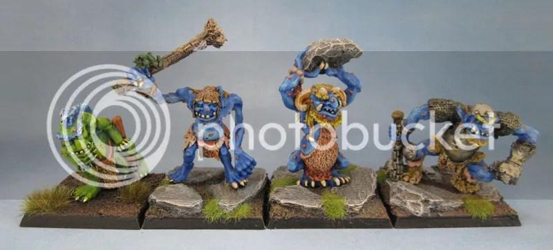 C20 Swamp Troll, Hill Troll, Cave Troll, Warrior Troll