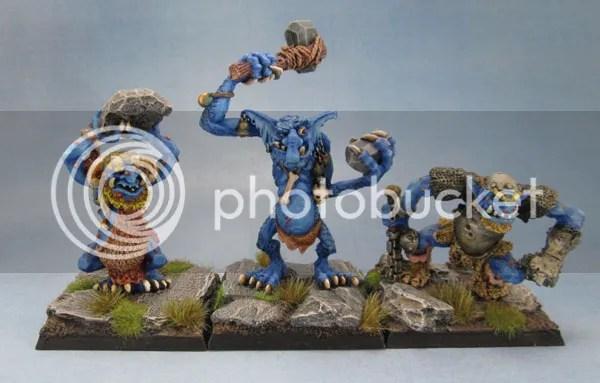 C20 Cave Troll, Stone Troll with Club and C20 Warrior Troll