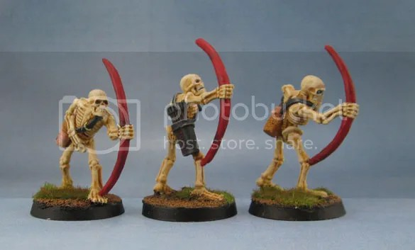 Black Tree Design Skeleton Archers