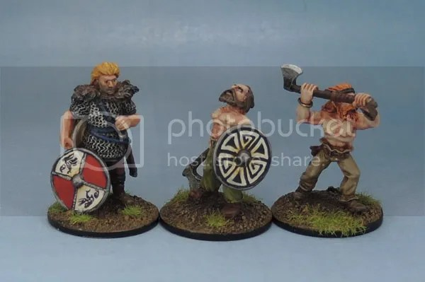 Citadel F4 Fighters Norse Vikings, Wargames Foundry Viking Berserkers - VNS003, Eureka Miniatures Beowulf the Geat