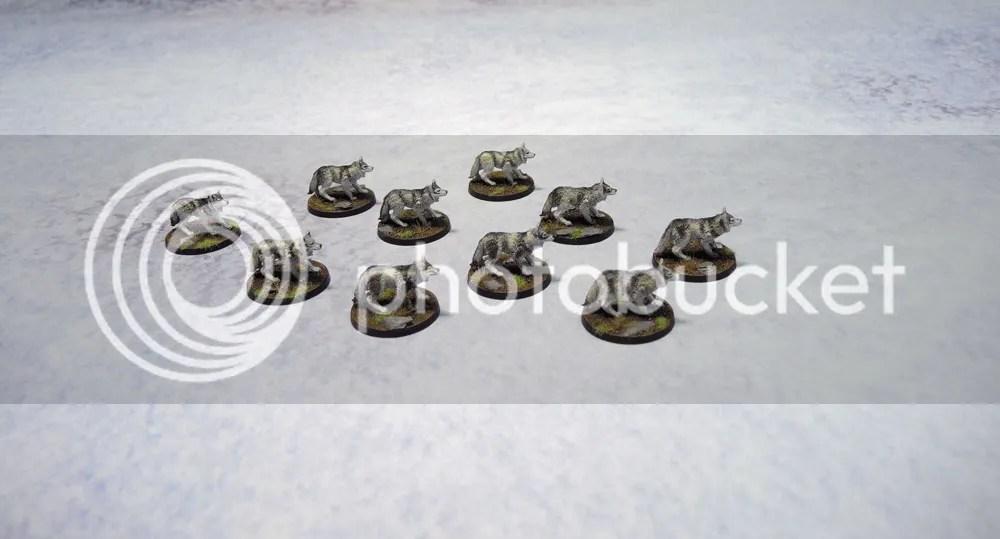Monolith Games Conan board game Giant Wolves, Urbanmatz Snow Territory game Mat