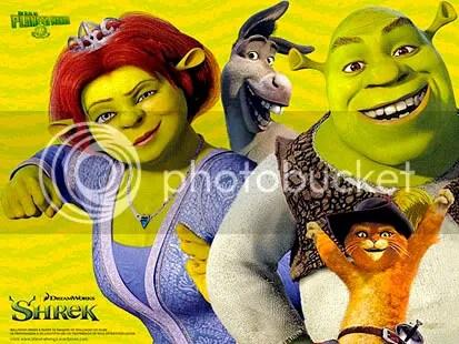 Shrek, Fiona, Gato de Botas e Burro - CLIQUE AQUI PARA FAZER O DOWNLOAD DESTE WALLPAPER