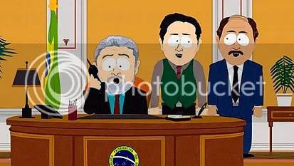 Lula-lá, trabalhando ao lado de dois assessores. Cadê o Franklin? CLIQUE AQUI PARA AMPLIAR ESTA IMAGEM