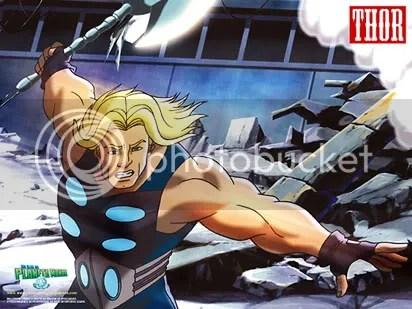 Thor numa cena de Ultimate Avengers, The Movie - CLIQUE AQUI PARA FAZER O DOWNLOAD DESTE WALLPAPER