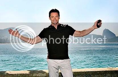 Hugh Jackman no Forte de Copacabana: ele não dá para cristo - CLIQUE AQUI PARA AMPLIAR ESTA FOTO EM ÓTIMA RESOLUÇÃO