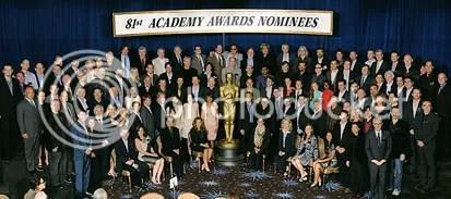 Os indicados ao Oscar numa foto para a posteridade - CLIQUE PARA AMPLIAR ESTA FOTO EM ÓTIMA RESOLUÇÃO