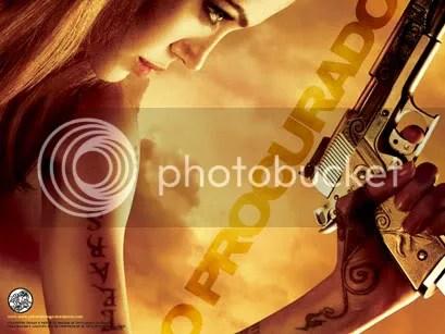 Angelina Jolie no poster de O Procurado - CLIQUE PARA FAZER O DOWNLOAD DESTE WALLPAPER