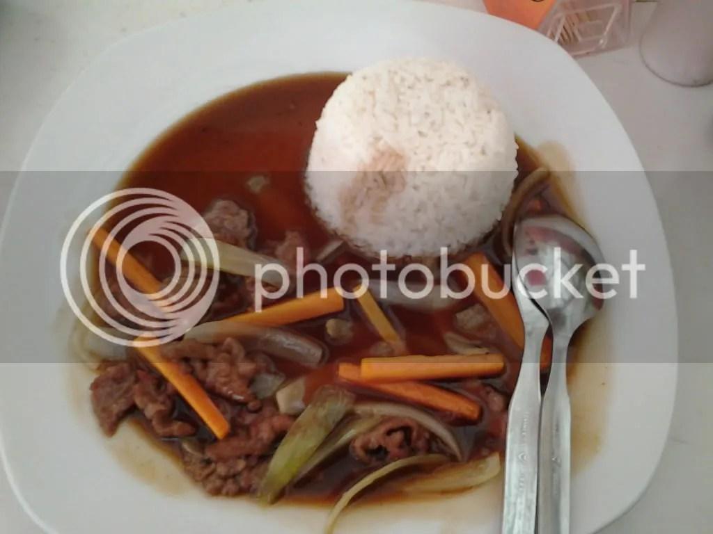 Nasi + Bistik Sapi