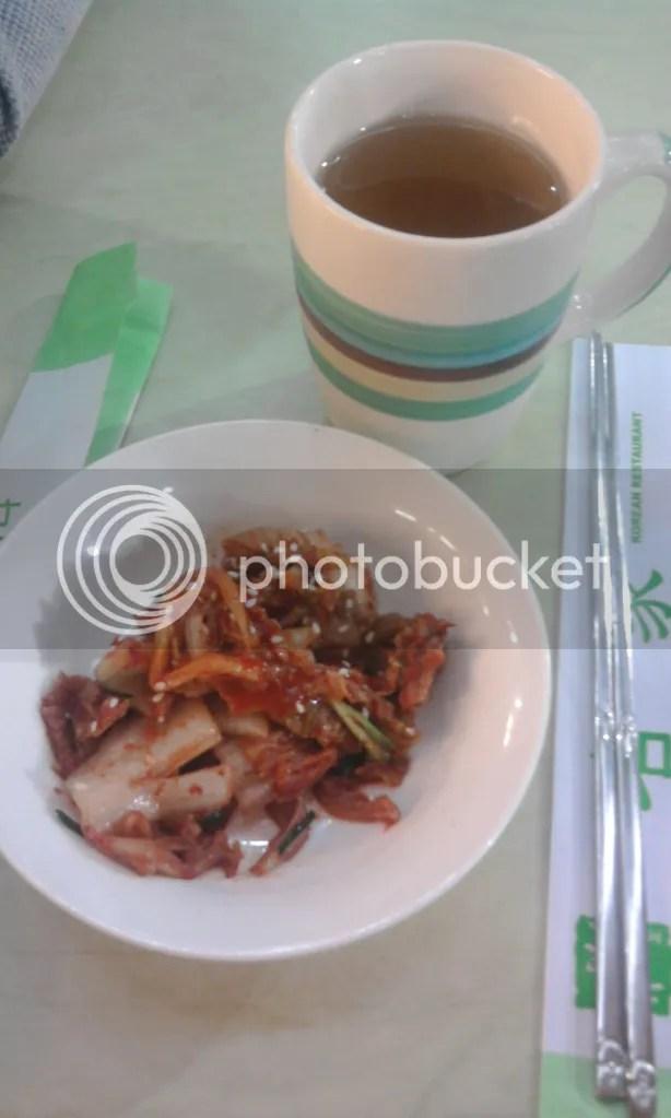 free drinks + free kimchi