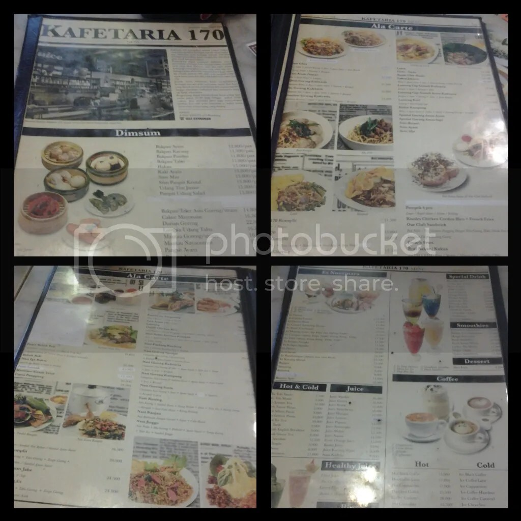 Buku Menu Kafetaria 170